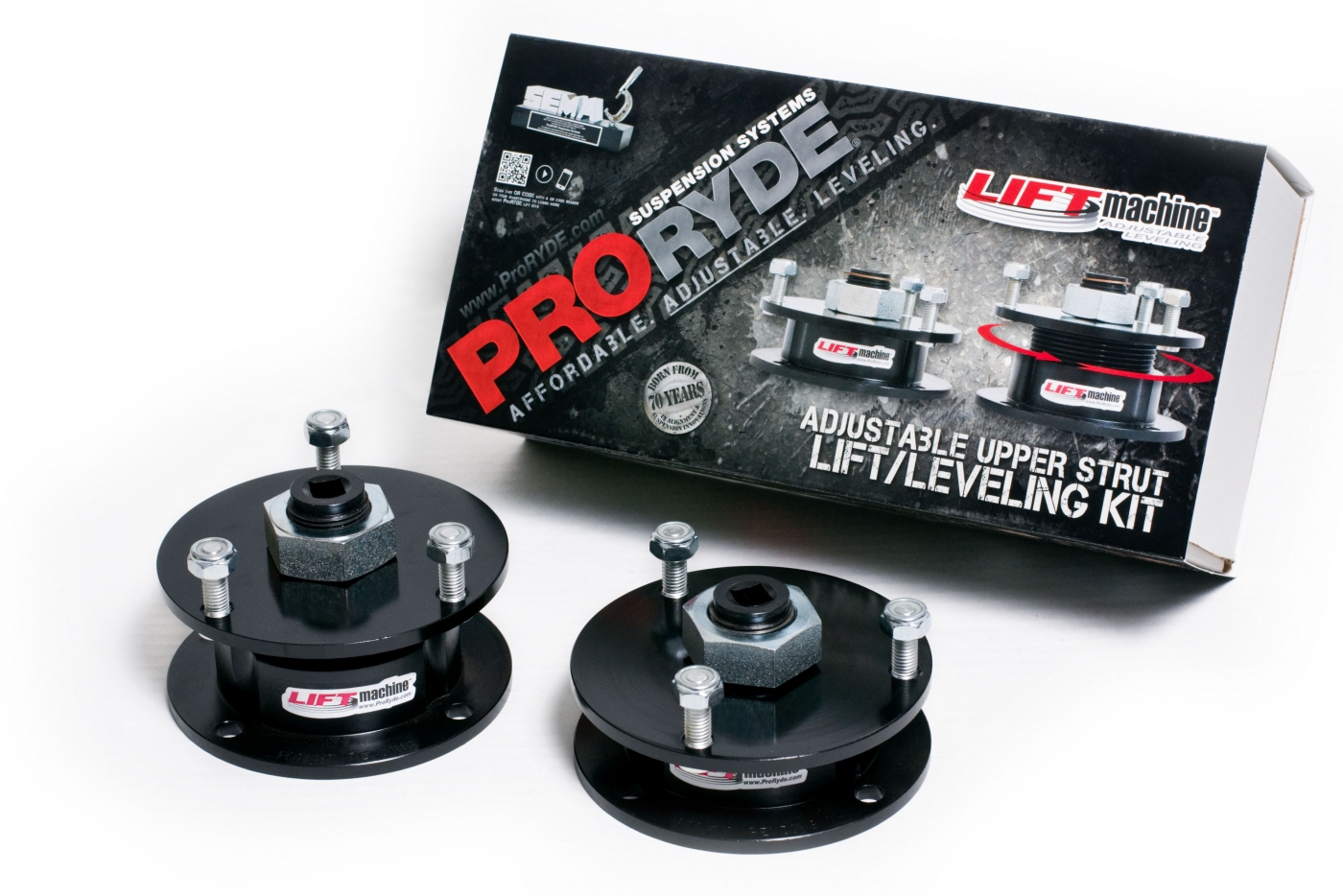 LIFTmachine ON-VEHICLE ADJUSTABLE FRONT LIFT LEVELING KITS