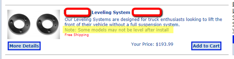 Leveling Systems